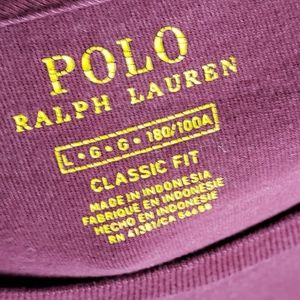 Maroon Polo Ralph Lauren Long Sleeve Tee Shirt